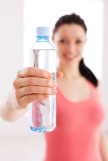 Girl Holding Bottle Water