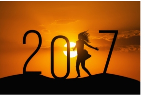 silhouette Woman jumping over 2017